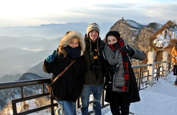 Interns at Emei Mt.