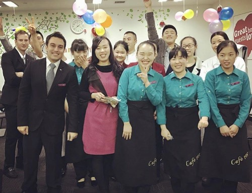 Andre's internship experience in 5 star hotel in Chengdu