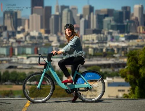 Bike-sharing -bring convenience to interns' life in China